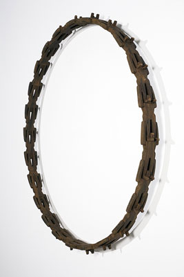 Stephen Hart, Circuit (2008), Patinated timber, 125 x 125 x 13cm