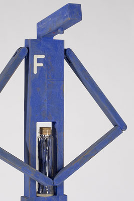 Frank Feels Full of Himself (2008) (detail), carved and polychromed timber