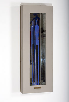 Stephen Hart, Frank Reflects (2008), carved and polychromed timber, 114.5 x 42 x 13.5cm