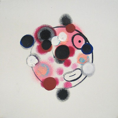 Daniel Mafe, Small Head Painting III (2006), acrylic on canvas, 20 x 20cm
