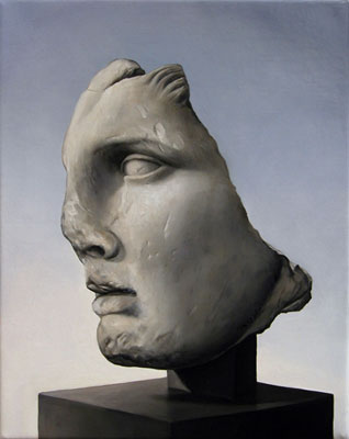 Juan Ford, Husk #9 (2006), oil on linen, 25 x 20cm