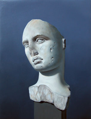 Juan Ford, Husk #5 (2006), oil on linen, 34 x 26cm
