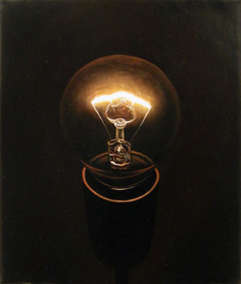 Juan Ford, Beacon #3 (2006), oil on linen, 30 x 25cm