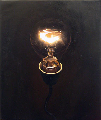 Juan Ford, Beacon #2 (2006), oil on linen, 30 x 25cm