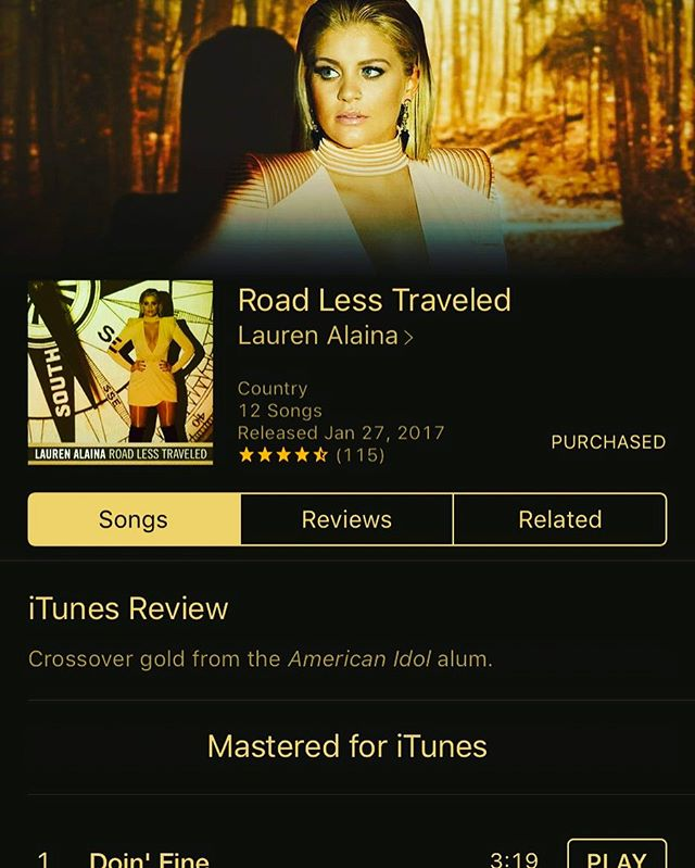 Can't. Stop. Listening. So proud of you, @laurenalaina ❤ This album is UNREAL & so dang inspirational. Go buy it, y'all. 🎶🔥🙌