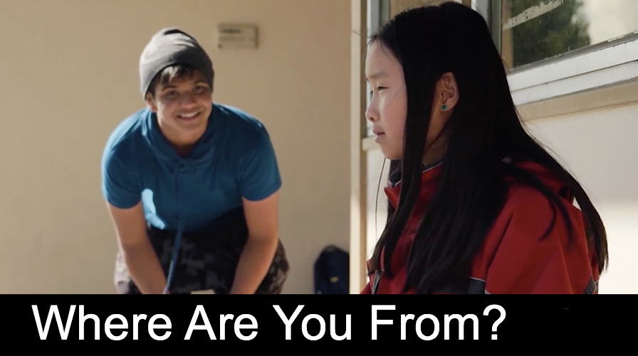 Where Are You From?  While waiting to get picked up from school, two children realize that even though their parents are from different countries, their experience as first-generation Americans is very similar.  Roles: Editor