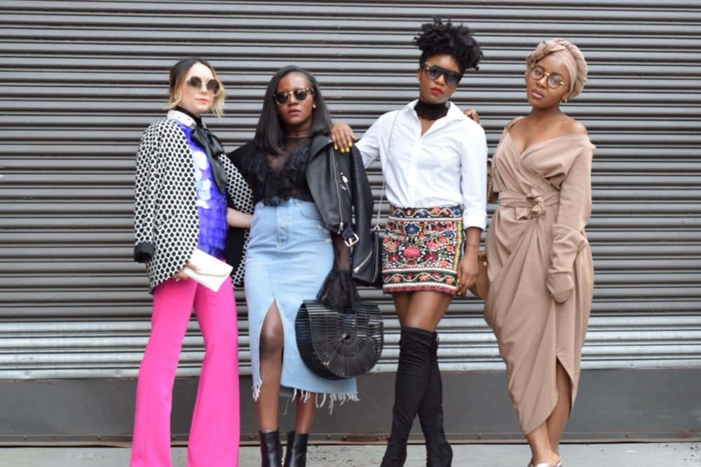 Bloggers L-R: Anna Maleeva of Hello Gorge, Frilancy of Fri's Closet, Monique of Wanderlust My Way, and myself