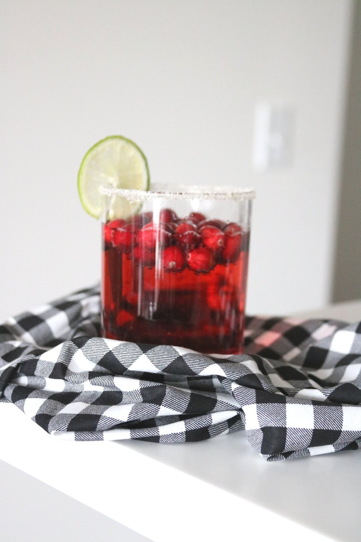 Cranberry+Sparkling+Mocktail
