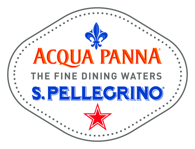 We are proud to serve San Pellegrino and Acqua Panna waters.
