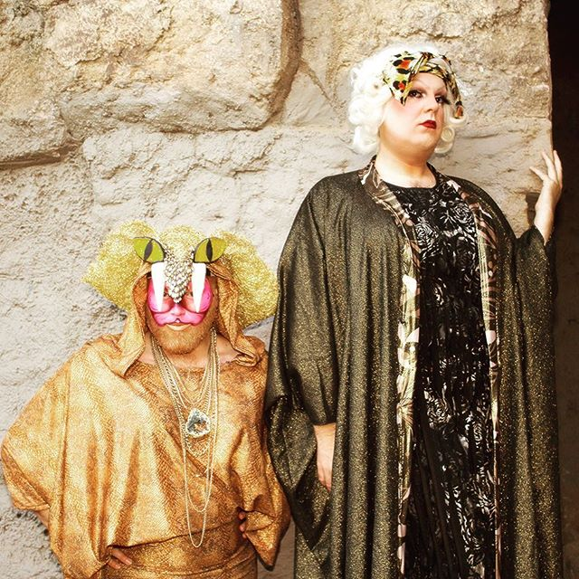 Cherry and Shelita from our Old LA Zoo shoot... prettiness on the rocks...#ladrag #dragqueen #dragmakeup #drag