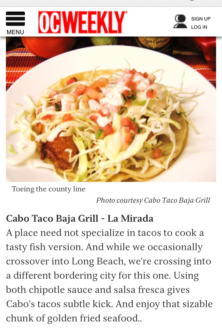 OC Weekly - 10 Great Fish Tacos in Orange County