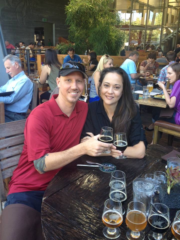 Brock and Laura Godwin -  Owner Operators of Cabo Taco Baja Grill                        (Having Lunch at Stone Brewery)