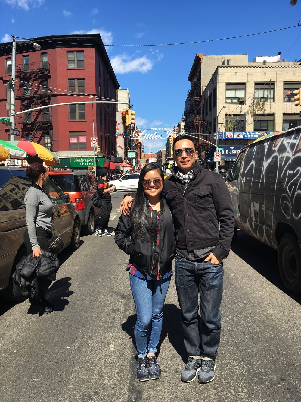 Gaby and I in Chinatown NYC