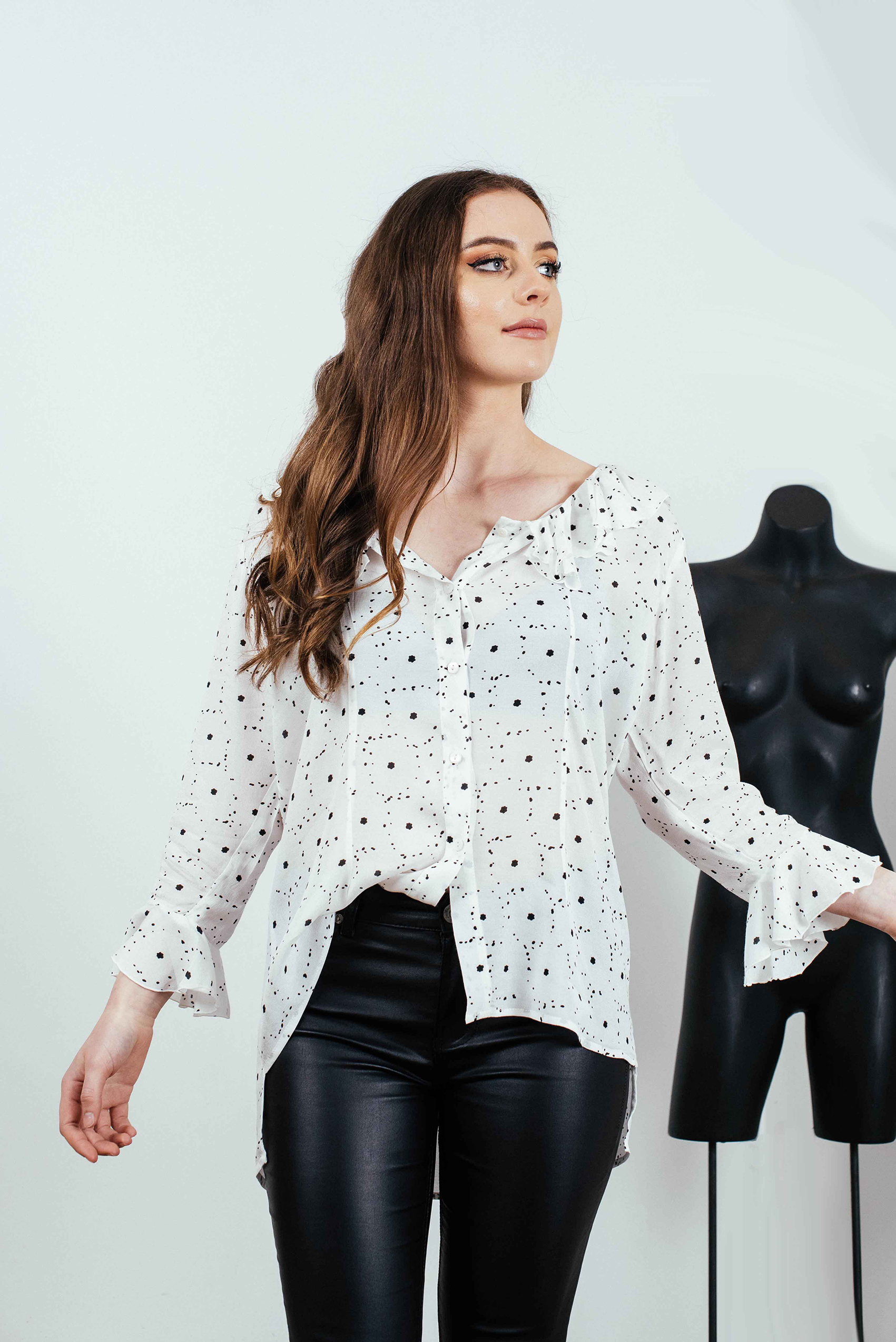 7bba4e335d7dc5 LIZZY RUFFLE SHIRT — Original Natural Fabrics Online in Australia ...