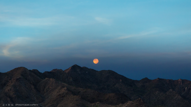 Summer Solstice Moon Set in Arizona