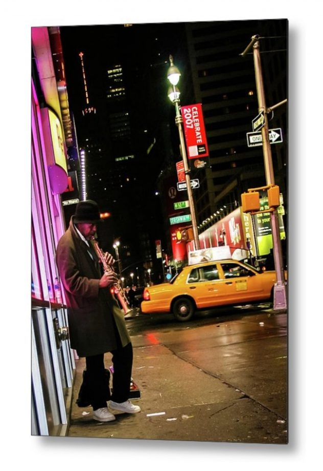 Saturday Night Lights - Metal print - Jazzy Nights in NYC by ZirePhotos