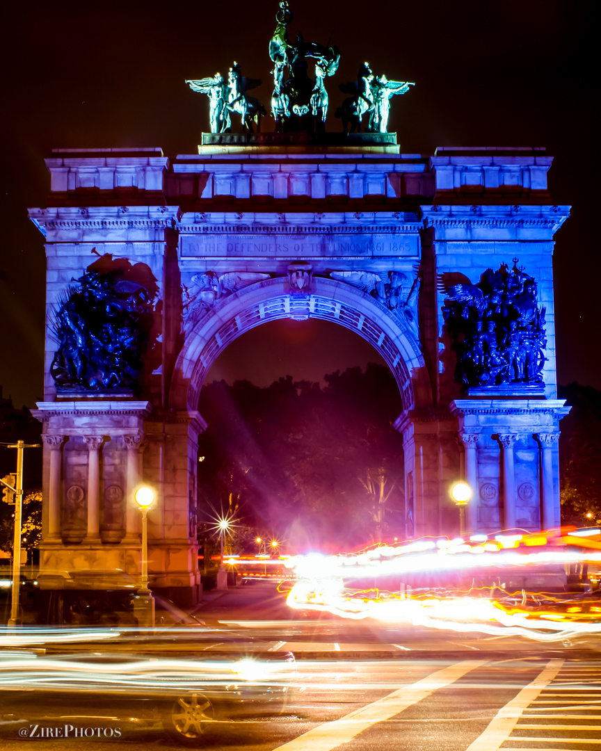 Grand Army Plaza in Motion - Vertical By Tyrone Z. McCants