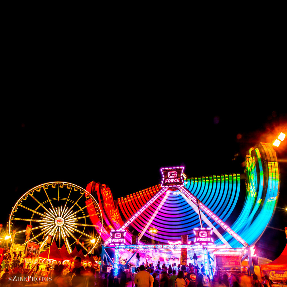 La Grande Wheel XL and G-Force In Motion At The Arizona State Fair