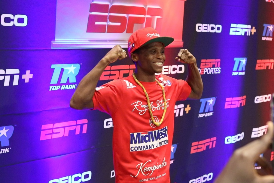 Isaac Dogboe at the Top Rank Press Conference