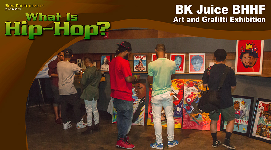 Graffiti and Art at the Bk Juice Hip-Hop Exhibition