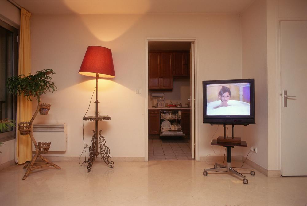 Objet télévision,Paris 1997 - Photographie Silvana Reggiardo