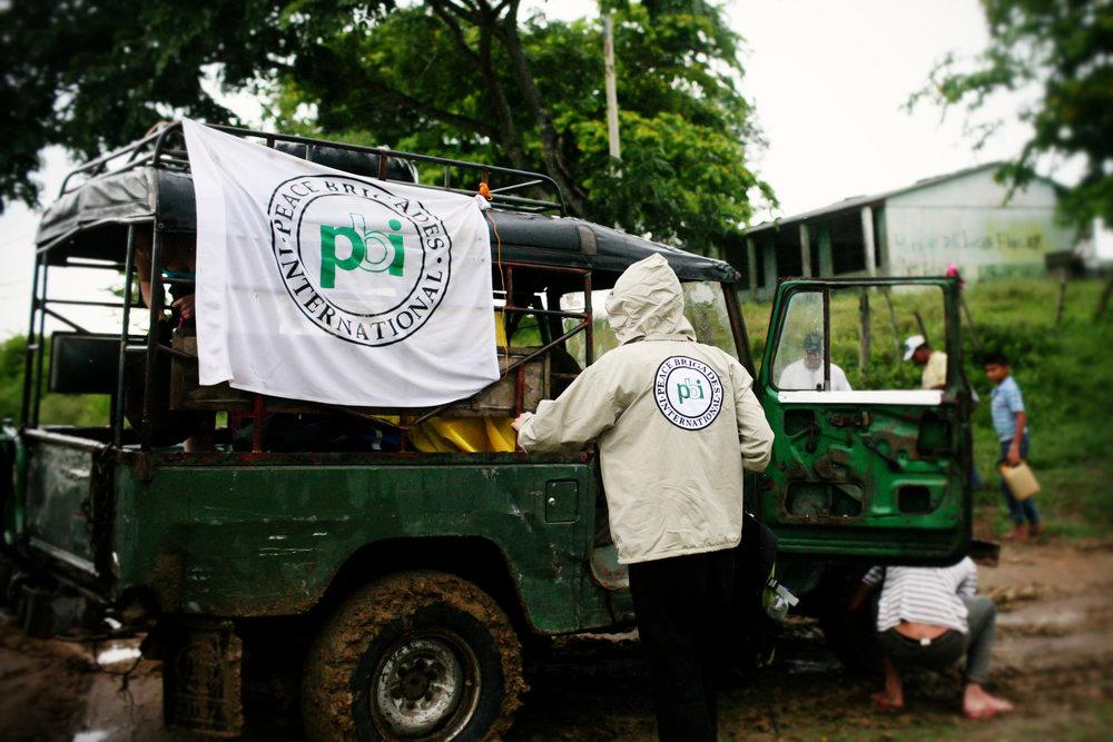 PBI volunteer accompanying in rural area Colombia.jpg