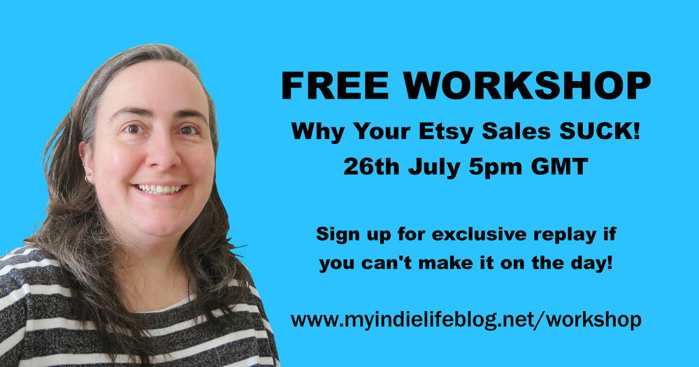 free workshop: why your etsy sales suck!