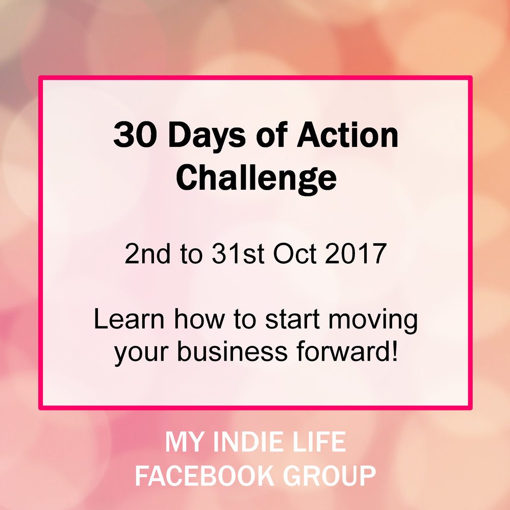30 days of action challenge in the Facebook group