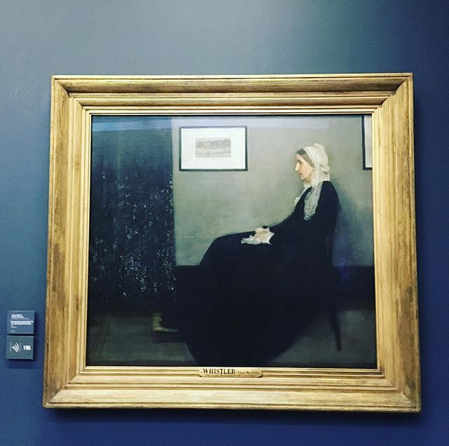 That time I saw #whistlersmother @museeorsay, my childhood art dream from the Mr Bean movie. Happy hump day!
