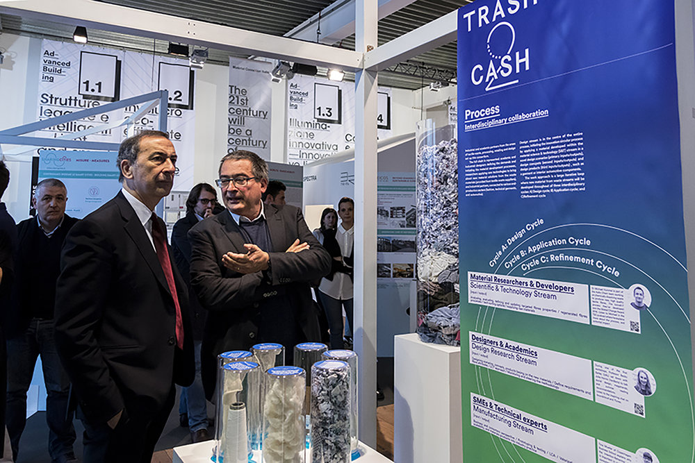 Milan's mayor Giuseppe Sala [left] visiting T2C both with MCI CEO Emilio Genovesi