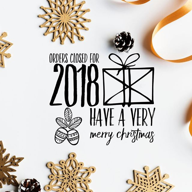 Thank you for all of your support in Lacuna in 2018 it has been a fabulous year! 😘 Now it's time for me to focus on my family and have a well earned break 💗 wishing you all a very a special festive period and I'll see you in 2019 🎉