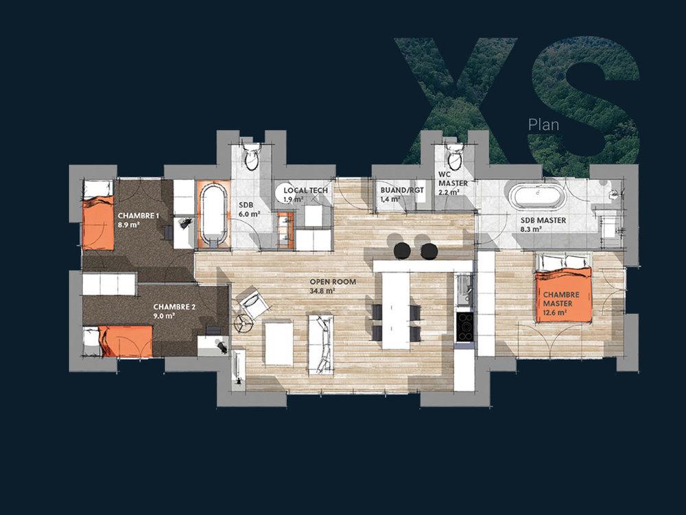 Plan de la Villa XS PP V1