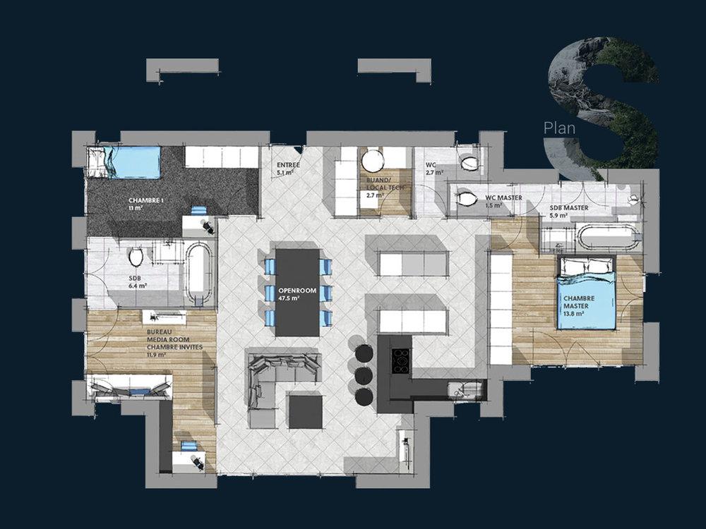 Plan de la Villa S PP V1
