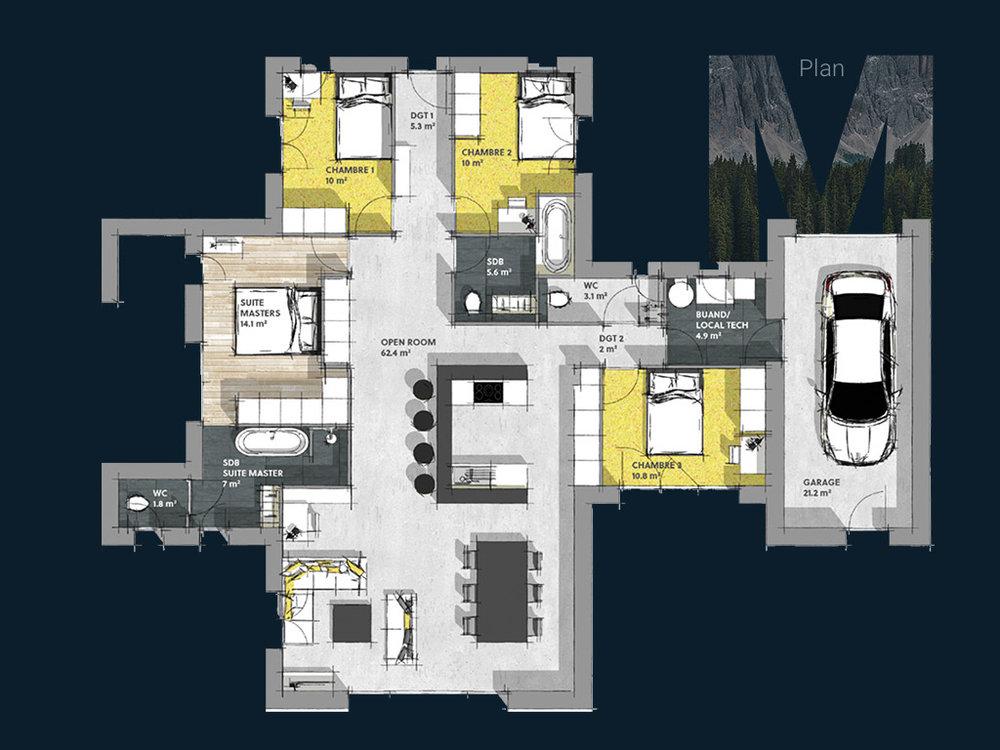 Plan de la Villa M PP V1