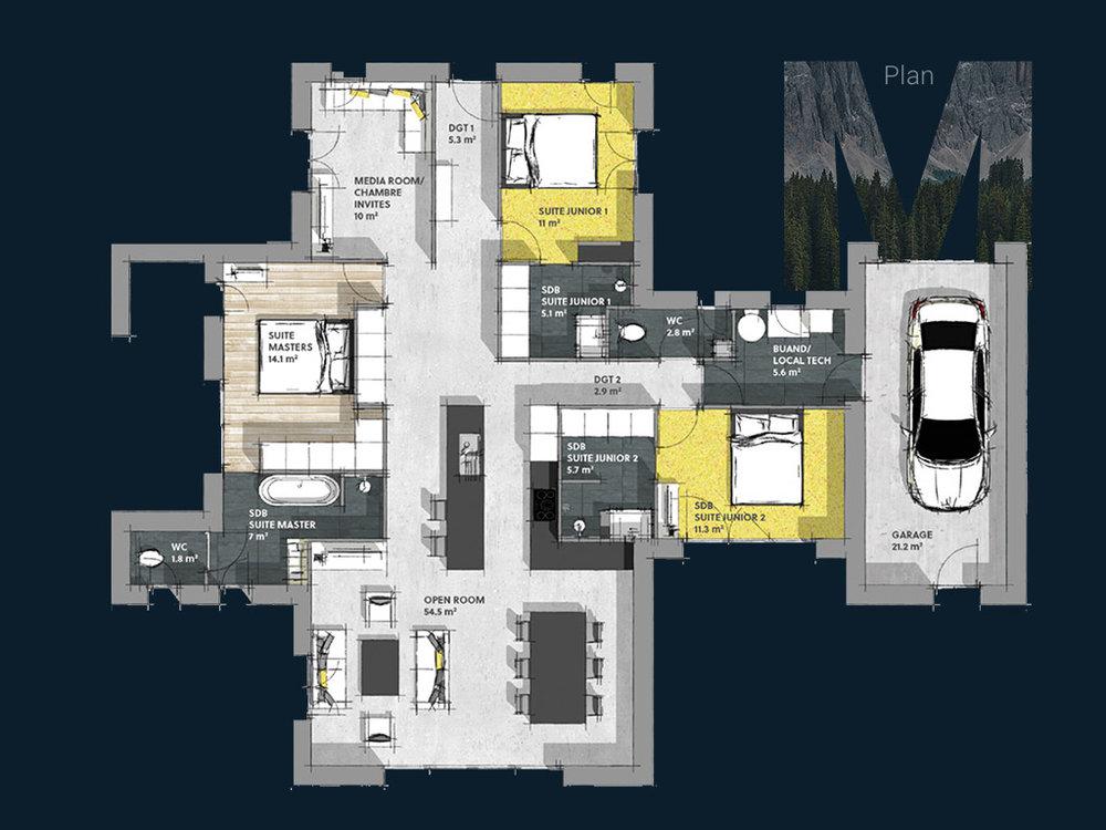Plan de la Villa M PP V2