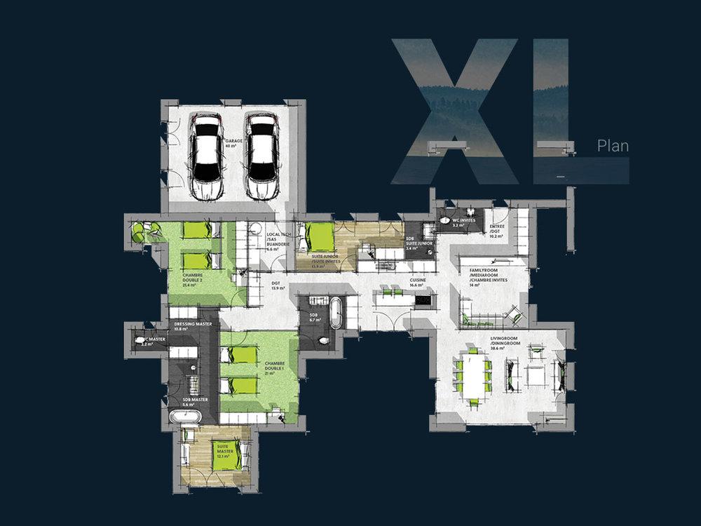 Plan de la Villa XL PP V1