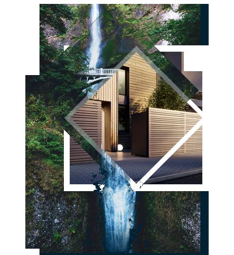 Des matériaux ORIGINAUX - La Villa M Designer est un édifice moderne au design affirmé. Elle mélange les influences naturelles telles qu'un bardage bois, et urbaines comme le zinc noir, le verre et le béton banché.