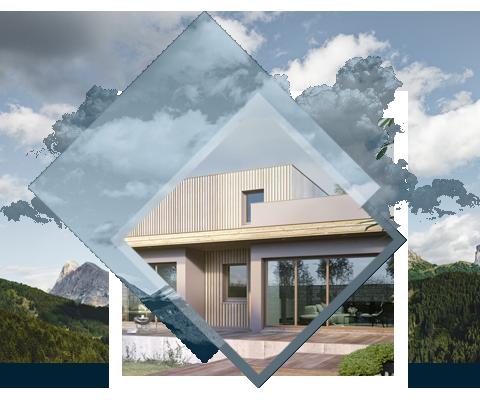 CASQUETTE BIOCLIMATIQUE - Une longue casquette de 12 mètres protège les baies vitrées arrières. En plus d'abriter des regards, elle protège des rayons brulants de l'été et laisse passer les rayons hivernaux pour réchauffer les pièces. Quelle que soit la saison, elle optimise l'apport de chaleur.