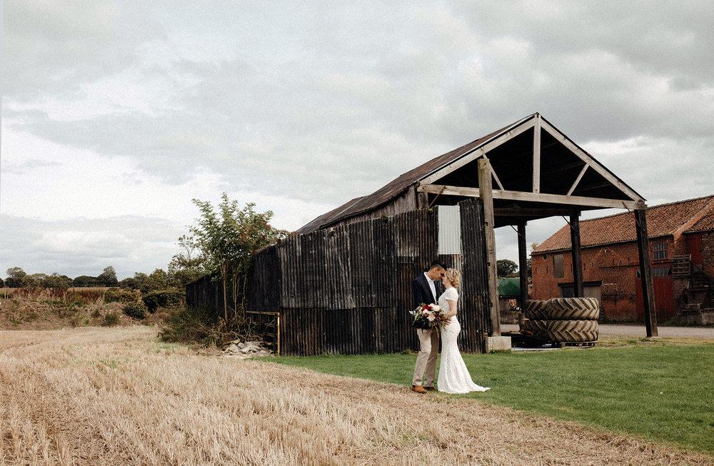 Wedding on a farm photography