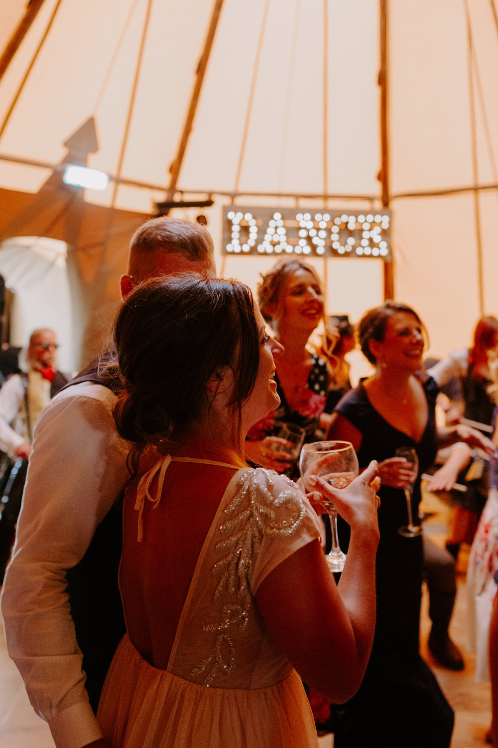 lake district tipi wedding