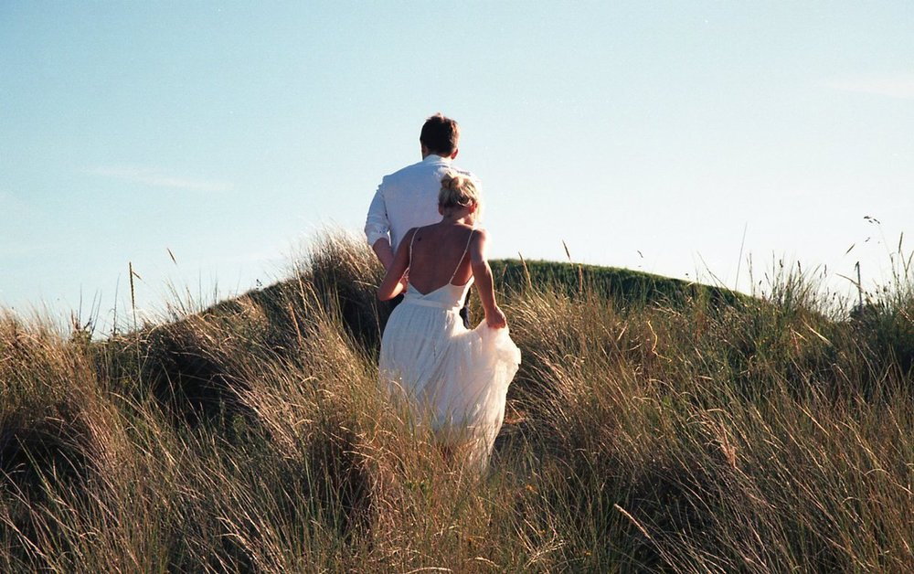 35mm kodak film - Shooting with a vintage Canon camera and Kodak Portra film for warm, golden tones. Perfect for your couple session or an elopement shoot in late afternoon light.