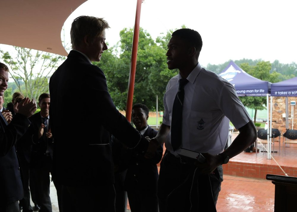 Greg Kircaldy (left) - Head of School 2018 and Orateng Koikanyang (right) - Head of School 2017