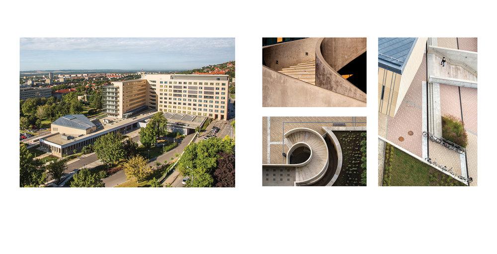 400 ágyas klinika - részlet az Egykor és ma. A pécsi egyetem épületei c. albumunkból