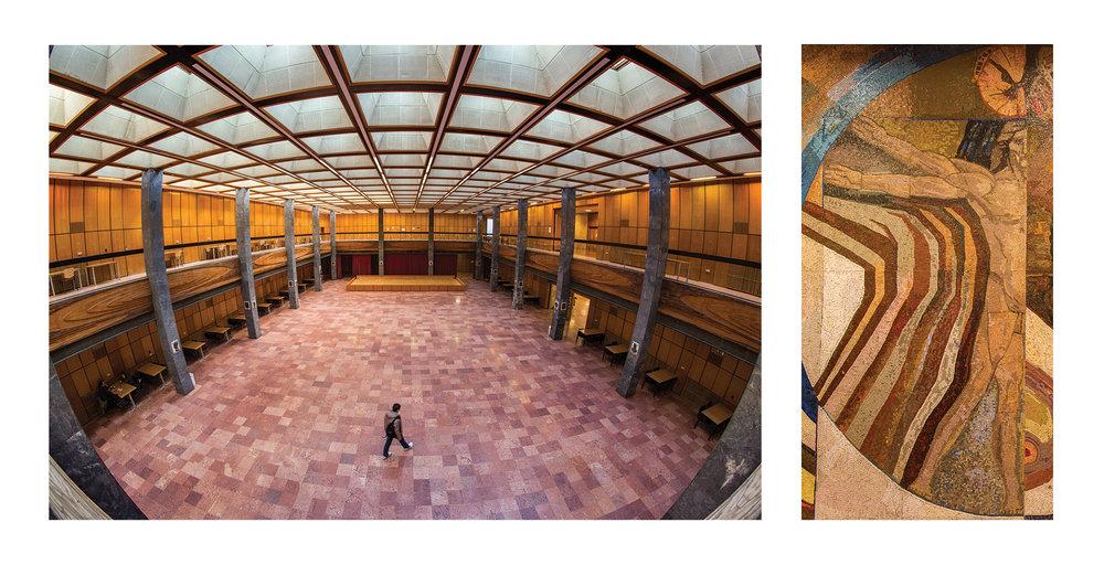 POTE aula - részlet az Egykor és ma. A pécsi egyetem épületei c. albumunkból