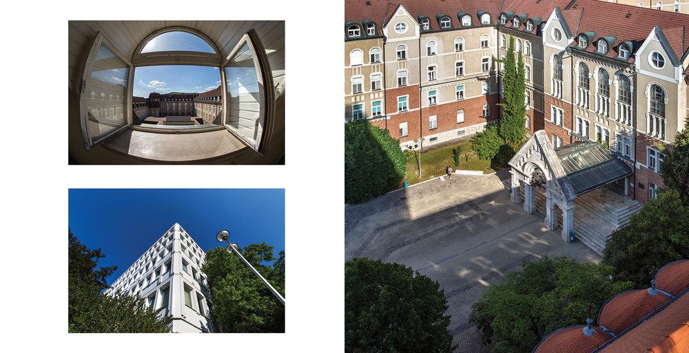 Ifjúság útja - részlet az Egykor és ma. A pécsi egyetem épületei c. albumunkból