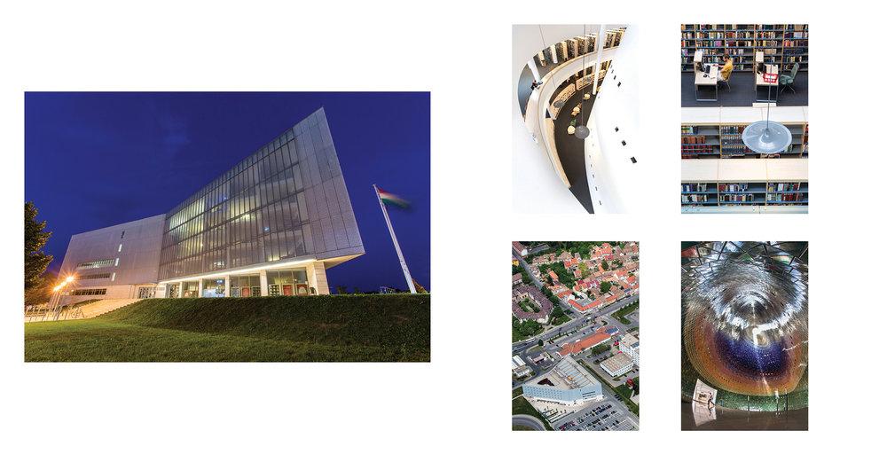 Egyetemi Könyvtár és Tudásközpont - részlet az Egykor és ma. A pécsi egyetem épületei c. albumunkból