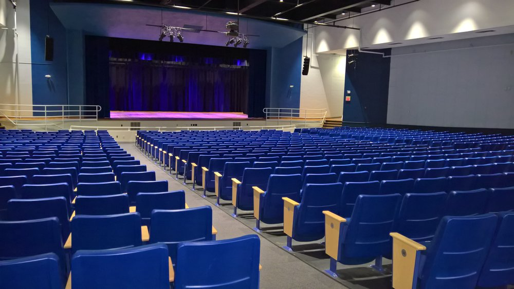 Warwick Veterans Memorial School - New Auditorium Seating and Stage Area