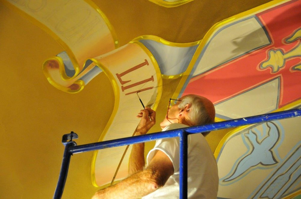 Vets Auditorium's Mural Restoration