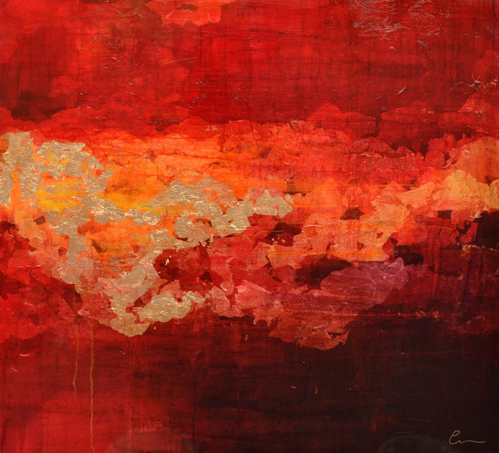 Exhale 150cm x 150cm Canvas, oil, gold leaf  AVAILABLE FOR PRIVATE VIEW
