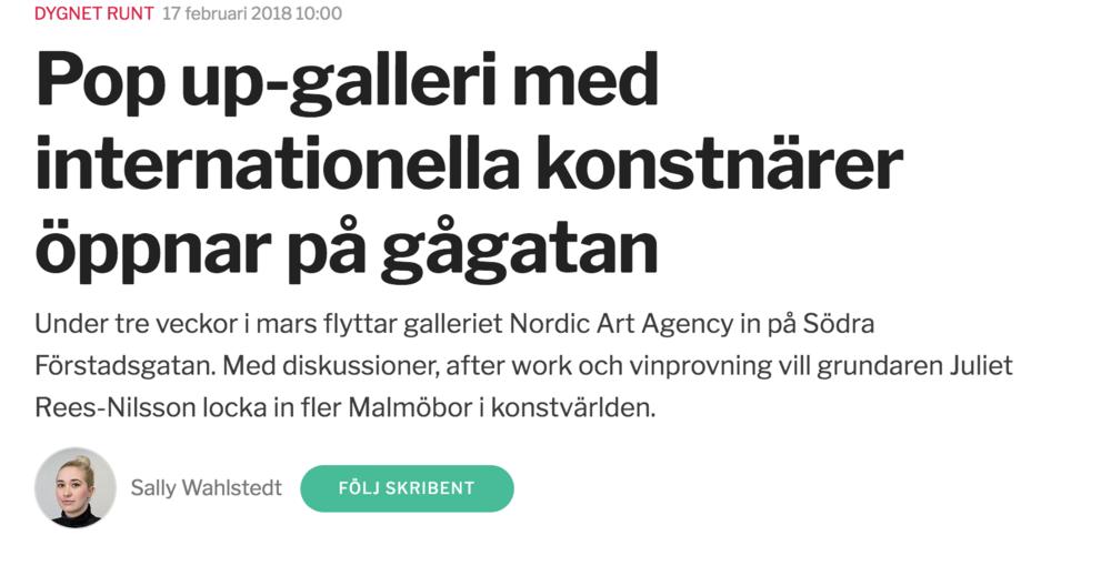 Sydsvenskan - Skåne, Sweden, February 17th, 2018
